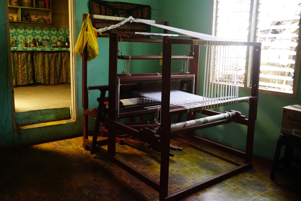 A loom in a weaver's home in Cavite