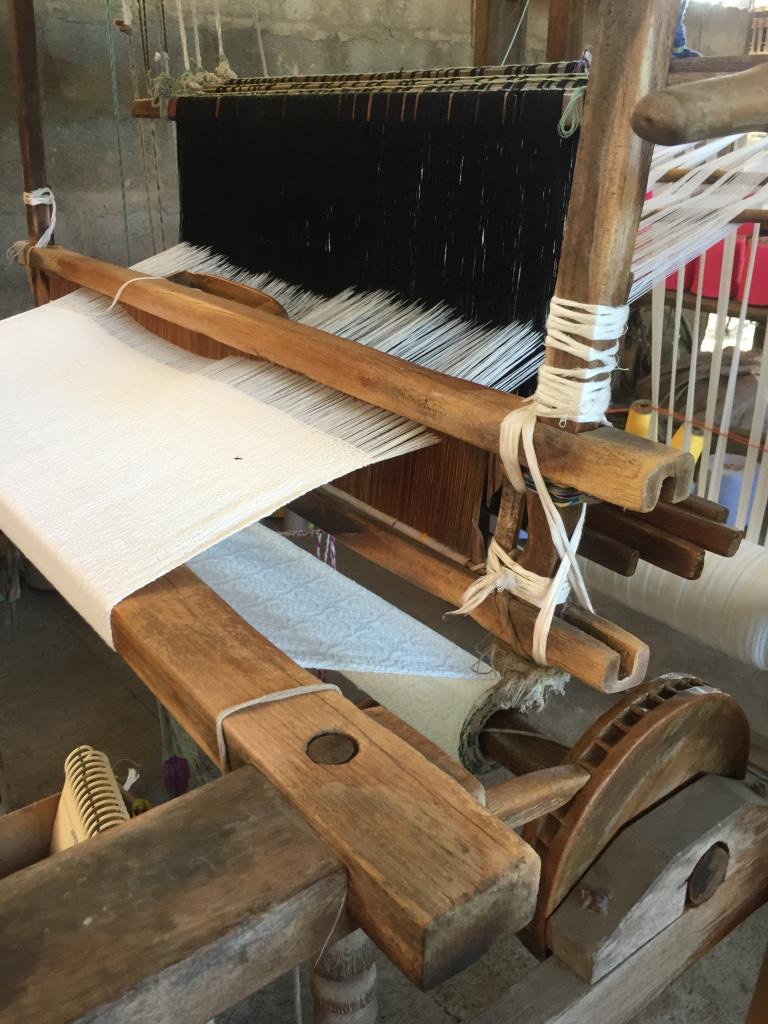 A foot loom in La Union